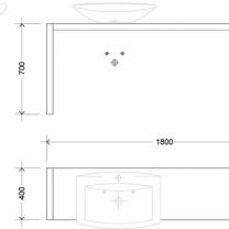 Deska pod umyvadlo U01