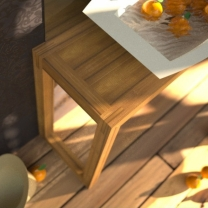 Dřevěný, teakový koupelnový nábytek U01