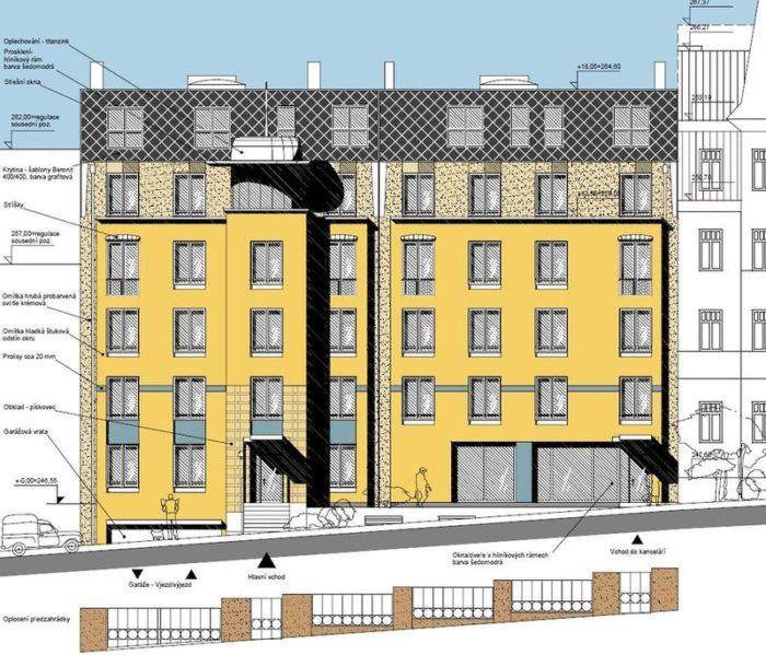 Developerský projekt, nové byty praha fasáda
