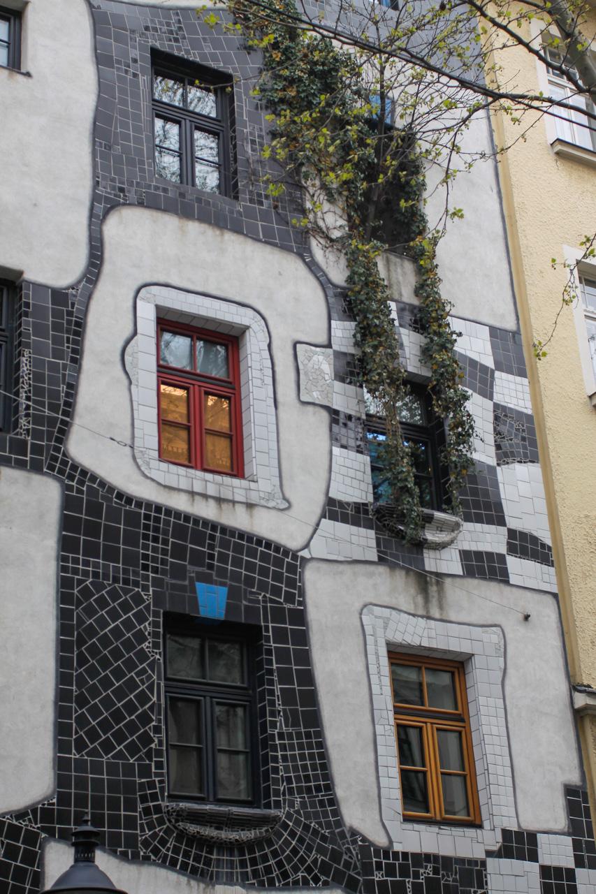 Hundertwasser Haus - okno